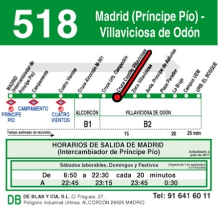 bus 518 rojo rec