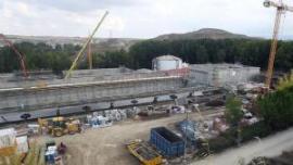 Obras en la nueva EDAR de Segovia. (Foto: A. de Torre)..