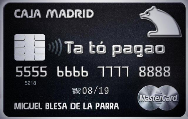 Tarjetas Negras Caja Madrid
